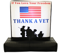 6 Feet Thank A Vet - Inflatable