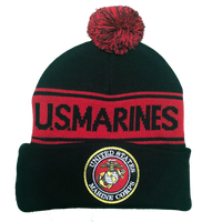 US Marines Pom Knit Beanie