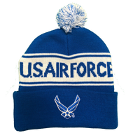Pom Pom knit Hat Air Force