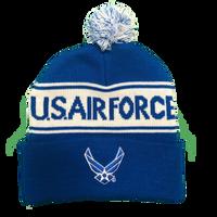 Pom Pom knit Hat Air Force