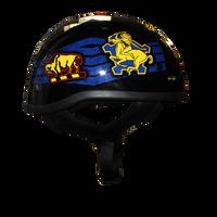 Motorcycle Half Helmet -  Buffalo Soldiers