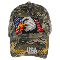 Caps-Embroidered- Eagle Flag Digital Camo