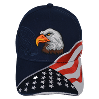 Caps-Embroidered- Eagle Shadow Stars & Stripes Navy