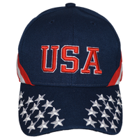 Caps-Embroidered- Star & Stripes Navy
