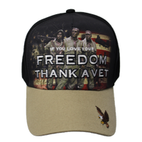 Caps- Thank A Vet Soldiers Black/Khaki