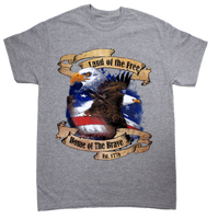 Land of the Free Heather Gray T-shirt