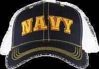 Caps - Mesh Print- Navy