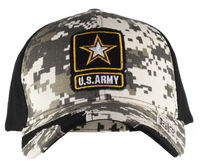 US Army Distressed Camo Cap
