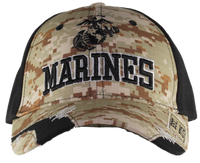 US Marines Distressed Camo Cap
