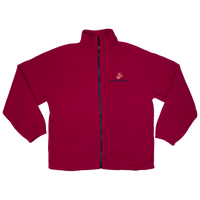 Made in the USA: US Marines Red Fleece Zip-up Jacket