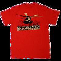 US Marines Vehicle Back T-shirt