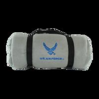 US Air Force Polar Fleece Grey Blanket