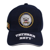 US Navy Embroidered Veteran Cap