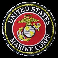 US Marines Round Logo Patch Large