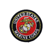 US Marines Round Logo Patch Small