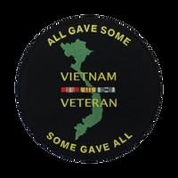 Vietnam Veteran Round Logo Patch Large