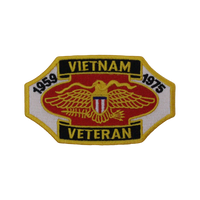 Vietnam Veteran Logo Patch Small