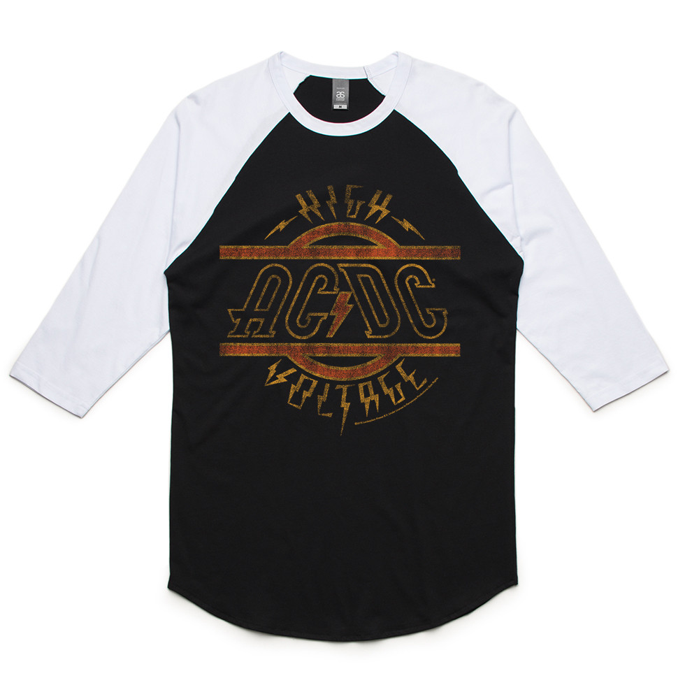 942dec5b830 High Voltage Raglan - AC DC - Official AU NZ Store