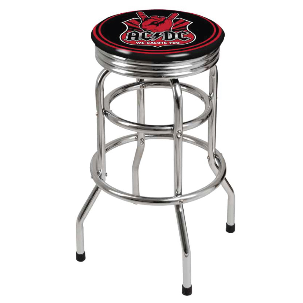 Swell Ac Dc We Salute You Bar Stool Pabps2019 Chair Design Images Pabps2019Com