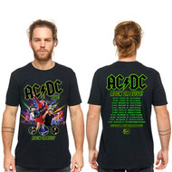 AC/DC Neon Rock or Bust Men's Tee