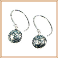 Filigree Sterling Silver Disc Earrings