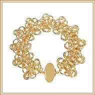 Gold Rosette Bracelet