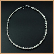 Multi-Patterned, Diamond-cut Sterling Silver Necklace
