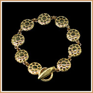 Gold Dotted Disc Bracelet