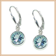 Brilliant-cut Blue Topaz and Sterling Silver Earrings