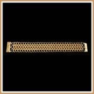 Gold European Weave Bracelet