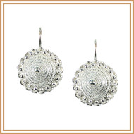 Sterling Silver Sombrero Earrings