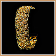 Gold Triple Helm Cuff Bracelet