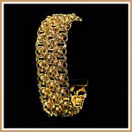 Gold Triple Helm Cuff Bracelet