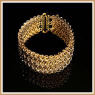 Gold Triple Viennese Cuff Bracelet