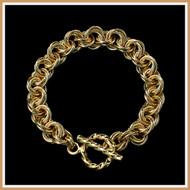 Gold Byzantine Rose Bracelet