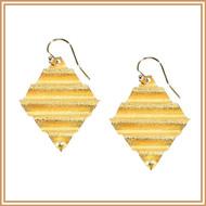 Gold Waffle cut Earrings
