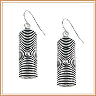 Sterling Silver Coiled, Rolled Earrings