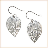 Sterling Silver Carved Petal Earrings