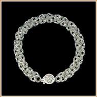 Sterling Silver 4mm Byzantine Bracelet