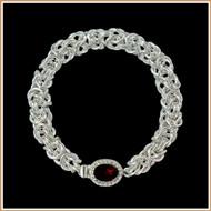 Sterling Silver 5mm Byzantine Bracelet