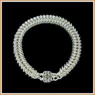 Sterling Silver Narrow Queen's Link Bracelet
