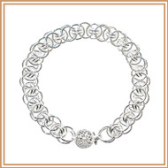 Sterling Silver Single Helm Bracelet