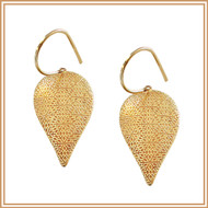 Textured Gold Inverted Teardrop Earrings