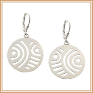 Carved Sterling Silver Earrings