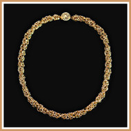 Gold Byzantine Necklace