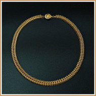 Gold Narrow Queen's Link Necklace