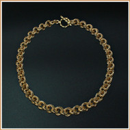 Gold Byzantine Rose Necklace