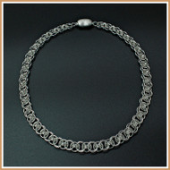 Sterling Silver Single Helm Necklace