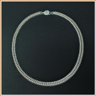 Sterling Silver Narrow Queen's Link Necklace
