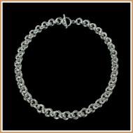 Sterling Silver Byzantine Rose Necklace